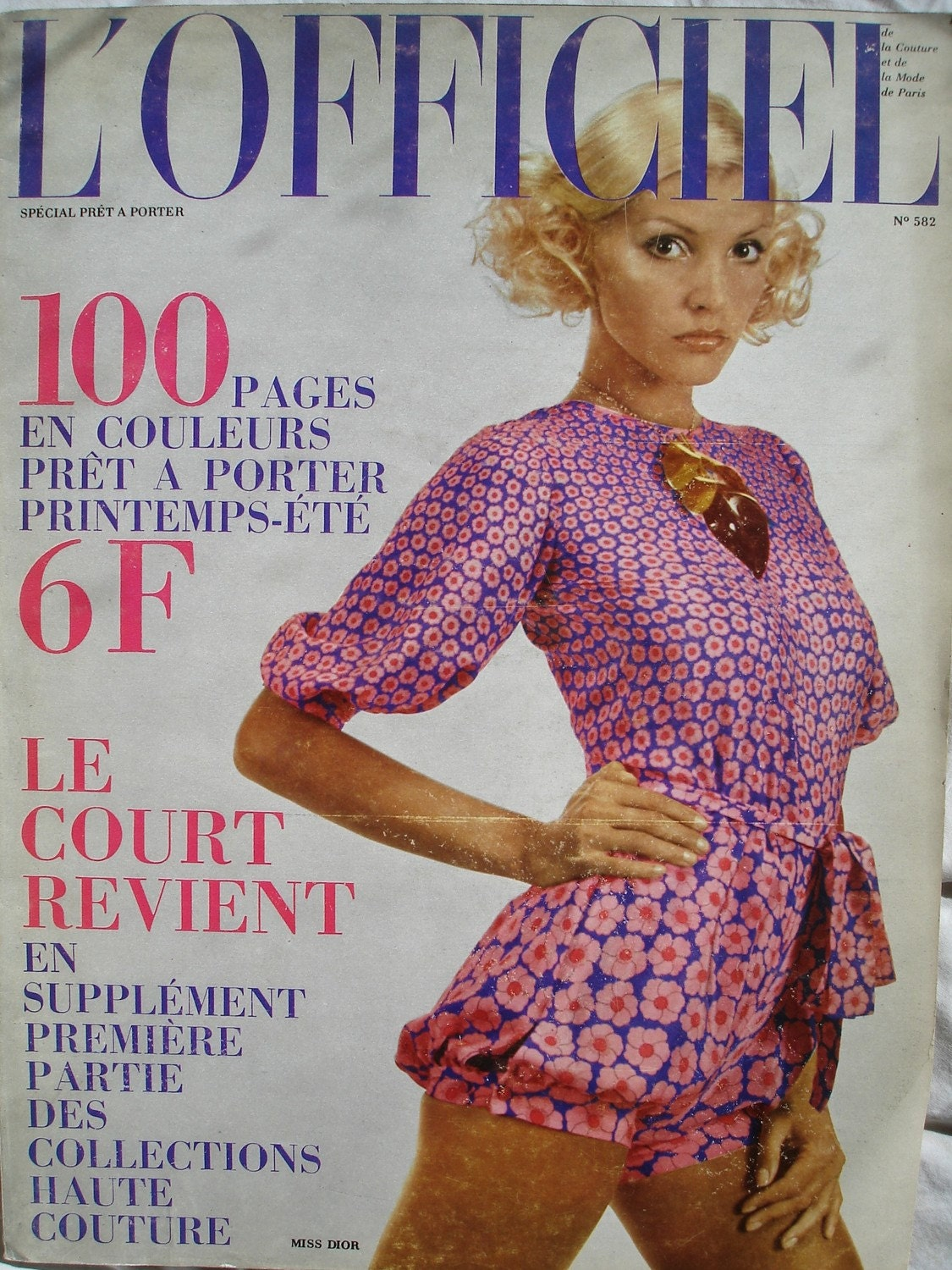 1970s Vintage French Fashion Magazine