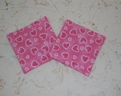 Sparkle Pink Hearts Mug Rugs/Coasters