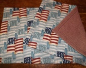Patriotic Americana Flags Reversible Placemat Set of 2