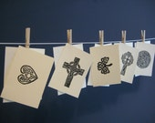 Celtic Knots hand pulled Art cards (5)