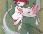Axolotlove (Poster Print)