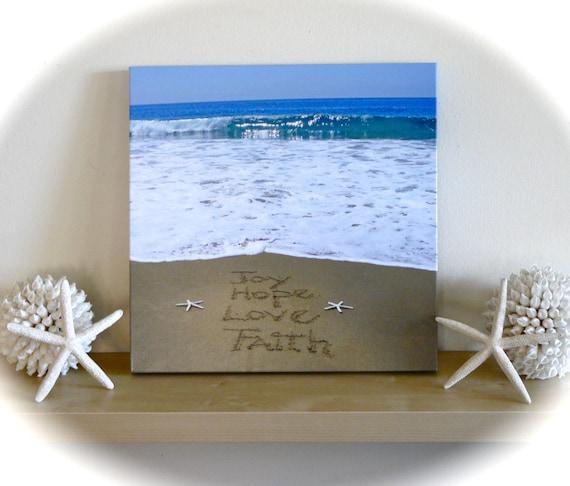 Beach chic wall decor : Items similar to survivor present inspirational beach