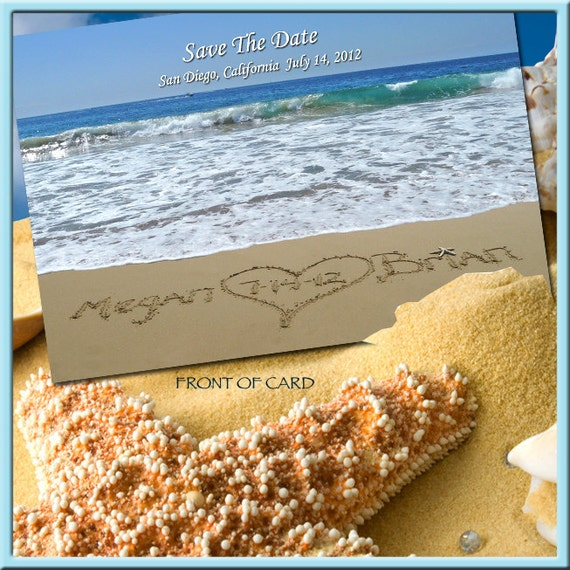 Items Similar To Save The Date Postcards-Beach Wedding