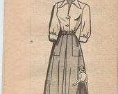 Marian Martin 9022 Sz 35 Skirt and Blouse from the late 1940s