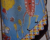 Vintage Printed Apron with Disturbing Images