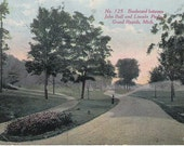 Vintage Postcard showing Boulevard between John Ball and Lincoln Parks, Grand Rapids, Michigan