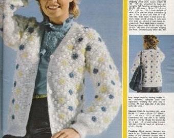 Anna Burda Knitting and Needlecrafts from July 1982