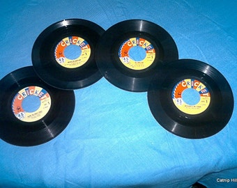 Vintage Cricket Children's 45 Records from the 1950's