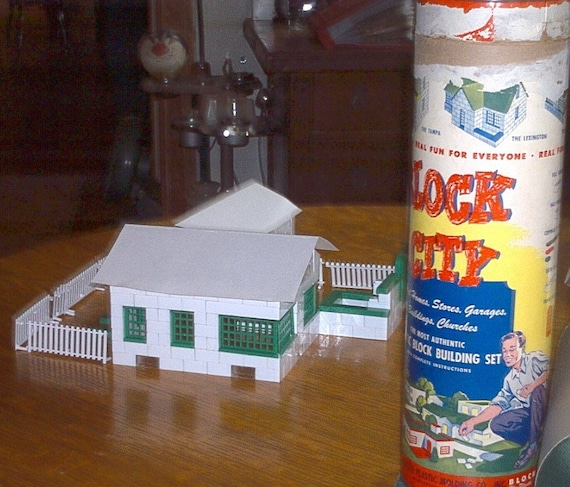 Block City Plastic Block Building Set No B 500