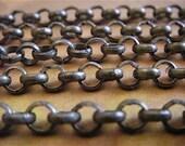 Artemus Gordon - 5 Foot - Steampunk - Rustic - Antique Bronze Cross Chain