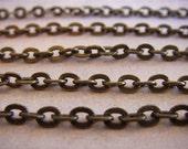 Cross Chain - Sherlock Holmes - 10 Foot - Steampunk - Antique Bronze Cross Chain