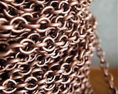 Elizabeth Browning - 5 Foot - Steampunk - Antique Copper Cross Chain