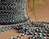 Jewelry Chain Supplies - James Starley - 5 Foot - Steampunk - Rustic - Antique Bronze small rolo Chain