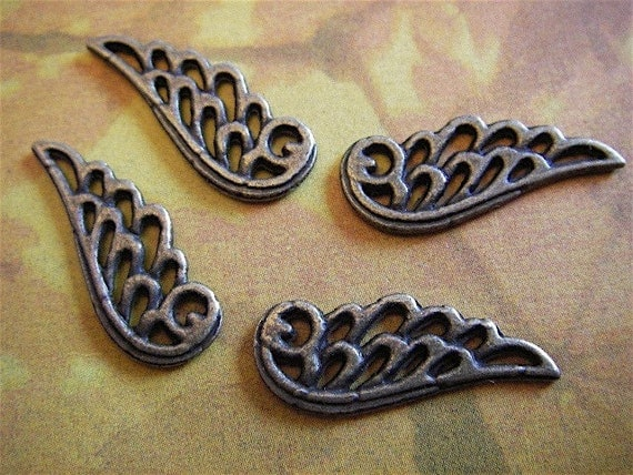 10 - Antique Bronze - Angel Wing Charm (ABAWC)
