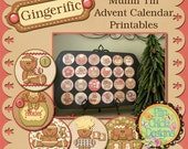Gingerbread Muffin Tin Advent Printables