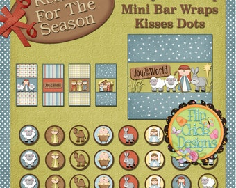 Nativity Printable Candy Wraps