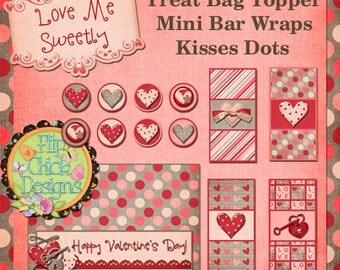 Love Me Sweetly Printable Valentine Pack