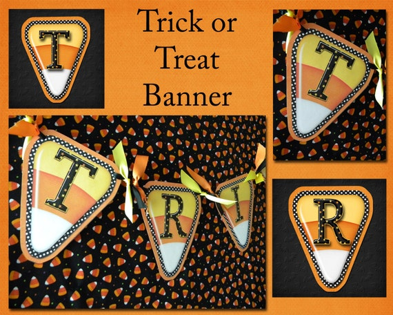 Trick or Treat Printable Banner