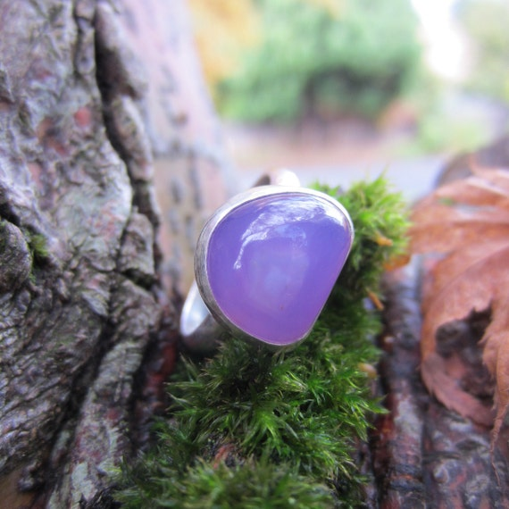 Holley Blue Agate (Chalcedony) Sterling Silver Ring