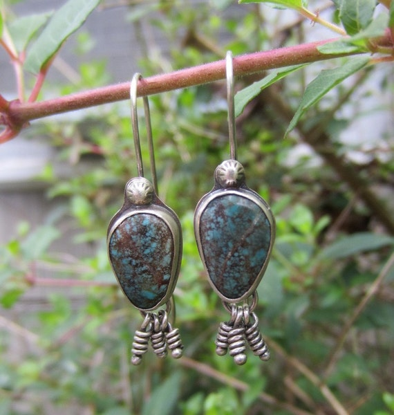 Turqouise and Silver Dangle Earrings