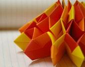 Fireworks - paper origami modular sculpture