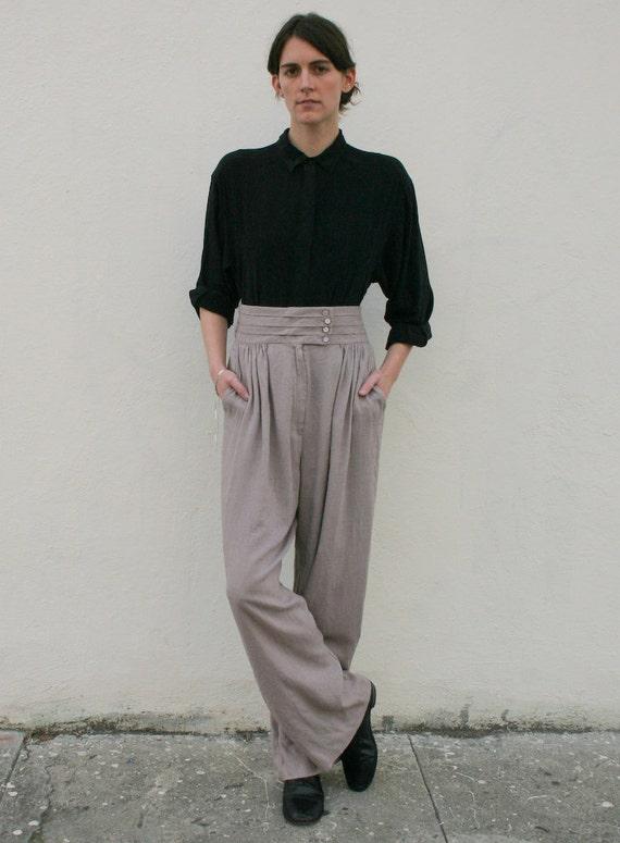 Vintage 1980's Lavender Jeanne Marc Wide Leg Trousers S/M