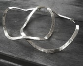 sterling silver hammered extra large hoop earrings