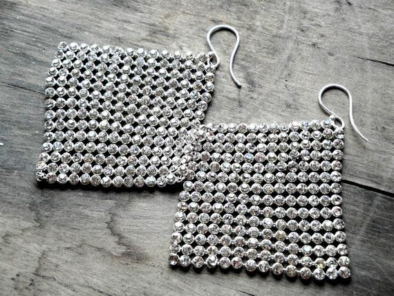 JENNIFER LOPEZ's earrings -rhinestones, sterling silver findings