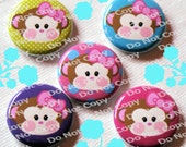 Little Monkey Face 1 inch Plastic Back Medallion Cabochon Cameo Charms 25mm Lot