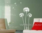 BIG SIZE   DANDELION FLOWER--59inch high--Removable Home Art Deco Mural Wall Sticker