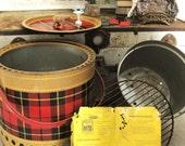 Portable Plaid BBQ Grill- Ranch Cabin