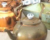 Aged Copper Tea Kettle- Farmland Chic