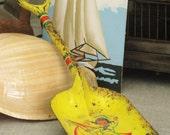RESERVEDNONI-Antique J Chein Toy Shovel- Vintage Child