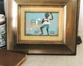 40% OFF Entire Shop - Vintage Folk Art Painting Tio TJay - Vintage Art Gallery