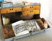 40% OFF Entire Shop - Antique Handmade Tool Chest - Ranch Cabin