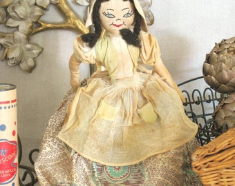 Doll , Antique , Folk Art Rag Doll , Folk Art Doll , Handmade Doll , Cloth Doll , Vintage Dolls , Antique Dolls , Dolls , Antique Toys