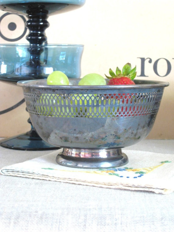 Perfect Patina SilverPlate Bowl- Cottage Life