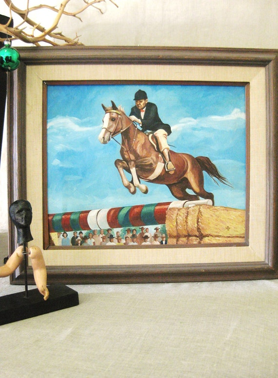 Horse Painting , Equestrian Painting , Horse , Art , Fine Art , Original , Riding , Mid-Century , Equestrian , Vintage Art , Sport