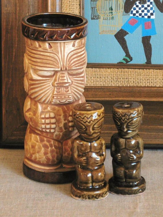 Vintage Tiki Salt and Pepper- Classic Vintage
