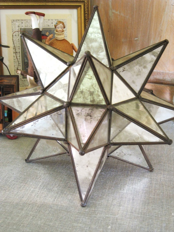 Vintage 17 Point Mirror Star- Vintage Penthouse