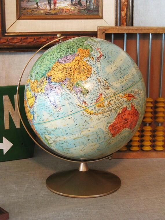 Vintage Replogle World Globe- Classic Vintage