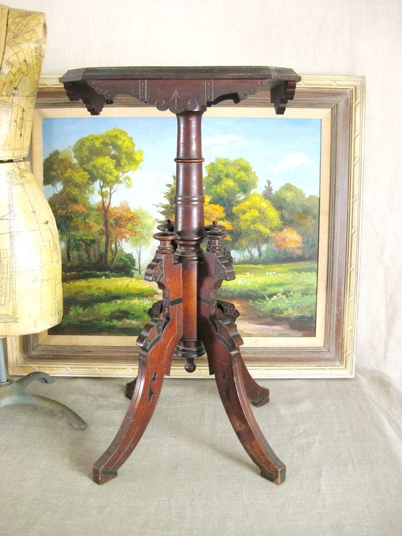 40% OFF Entire Shop - Antique Victorian Eastlake Period Bible Table - Queens Manor
