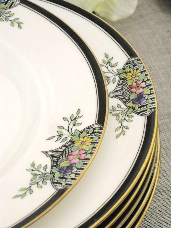 Antique Lenox Dinner Plates 10 pcs - Queens Manor