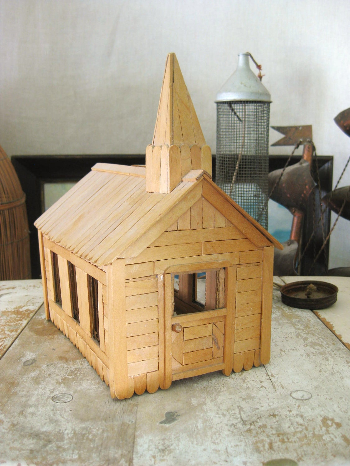 Popsicle stick church craft -  Zoom