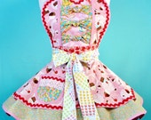 RESERVED for Beautifull ---Candy Land Cupcake Apron with Frosting Sprinkles Lollipops Jellybeans and Pez