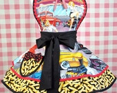 Custom Order for Amy---  Car Hop and Fries Retro 50's Style Drive In Womens Apron