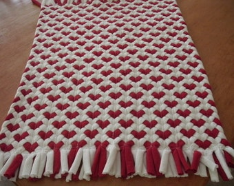 Red Heart rug made from recycled t shirts