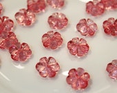 whole shop now with prices 50% off - 300pcs -  Bling Bling Acrylic Clear Pinky Flower Beads - 11mm
