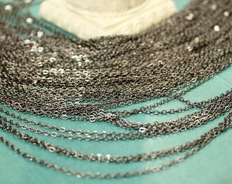 whole shop now with prices 50% off - 3 Feet - Gun Metal Plated Cable Chain - Soldered Links - 2 x 2.5mm small links - CHN0725