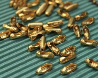 20 pcs Brass Ball Chain Connectors - 3mm